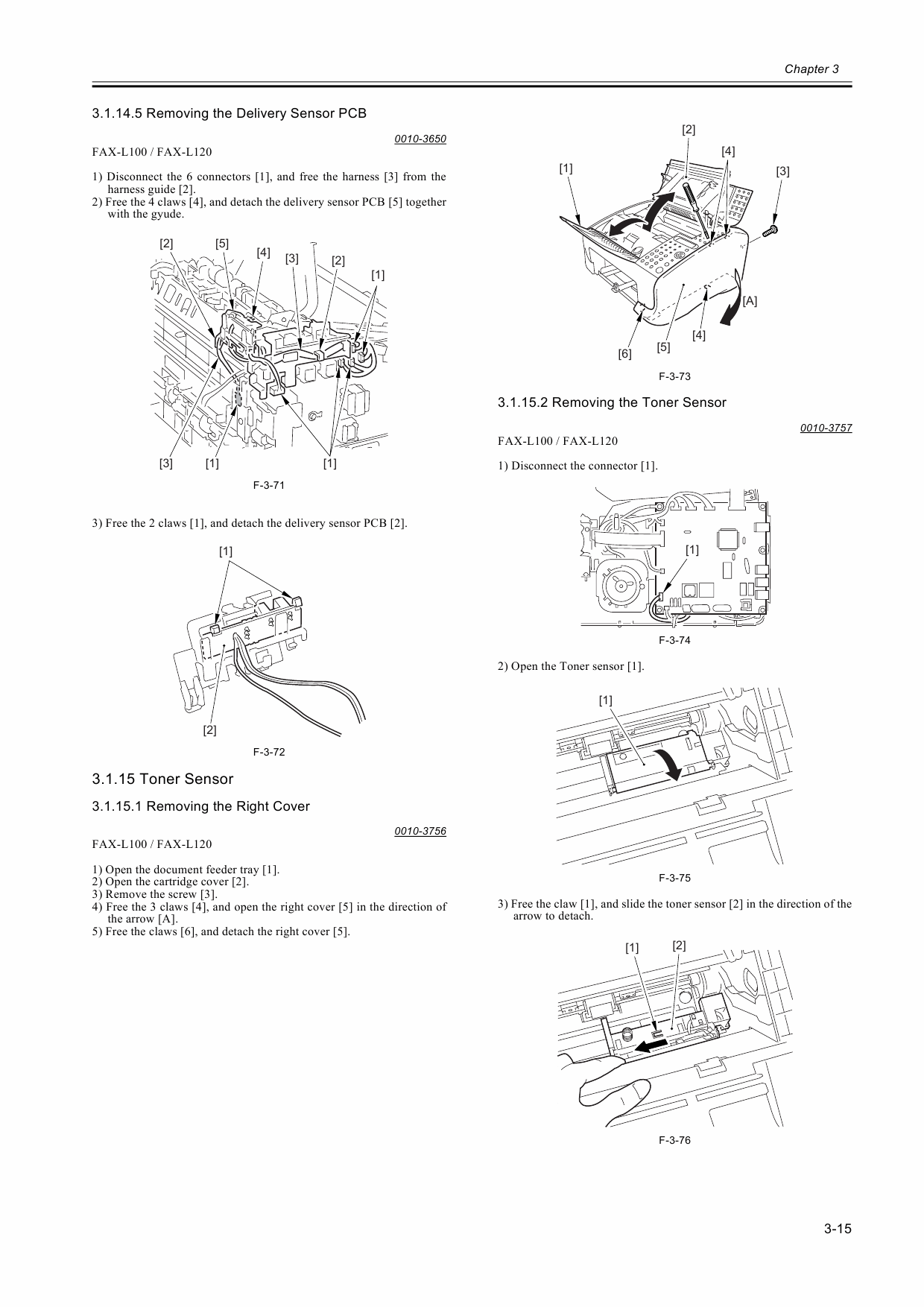 Canon Fax L100 L120 Parts And Service Manual